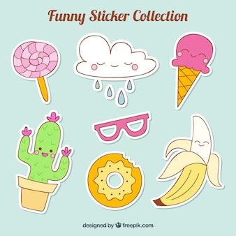 Kleurrijke sticker collectie