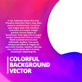 Kleurrijke vector achtergrond met ruimte voor uw tekst