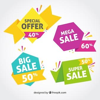 Kleurrijke verkoop banner