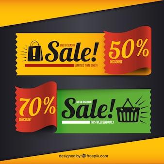 Kleurrijke verkoop banners