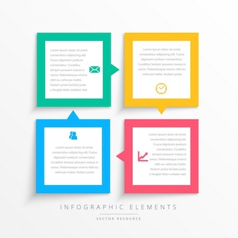 Kleurrijke visite infographics stappen kader