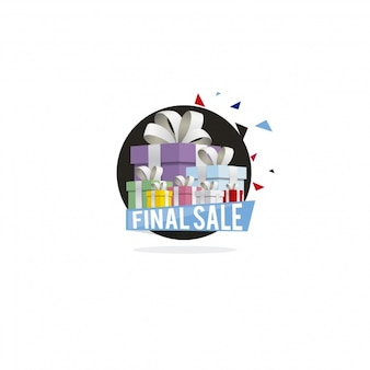 Laatste verkoop logo ontwerp