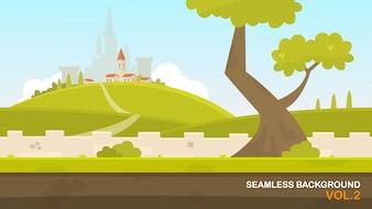Landschap met kasteel