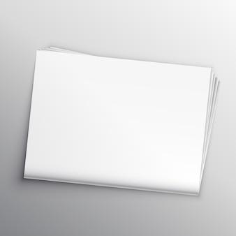 Lege krant mockup ontwerp sjabloon