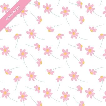 Leuk Bloemenpatroon. bladeren en bloemen hand getekend naadloos patroon.