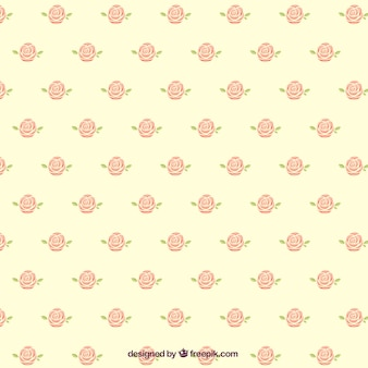 Leuk patroon van decoratieve rozen