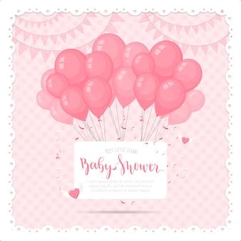 Leuke Baby Shower Achtergrond Met Ballons