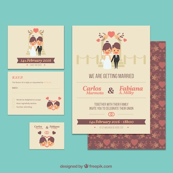 Leuke bruiloft uitnodiging sjabloon