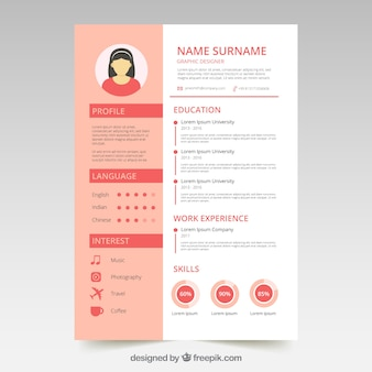 Leuke CV met sjabloon