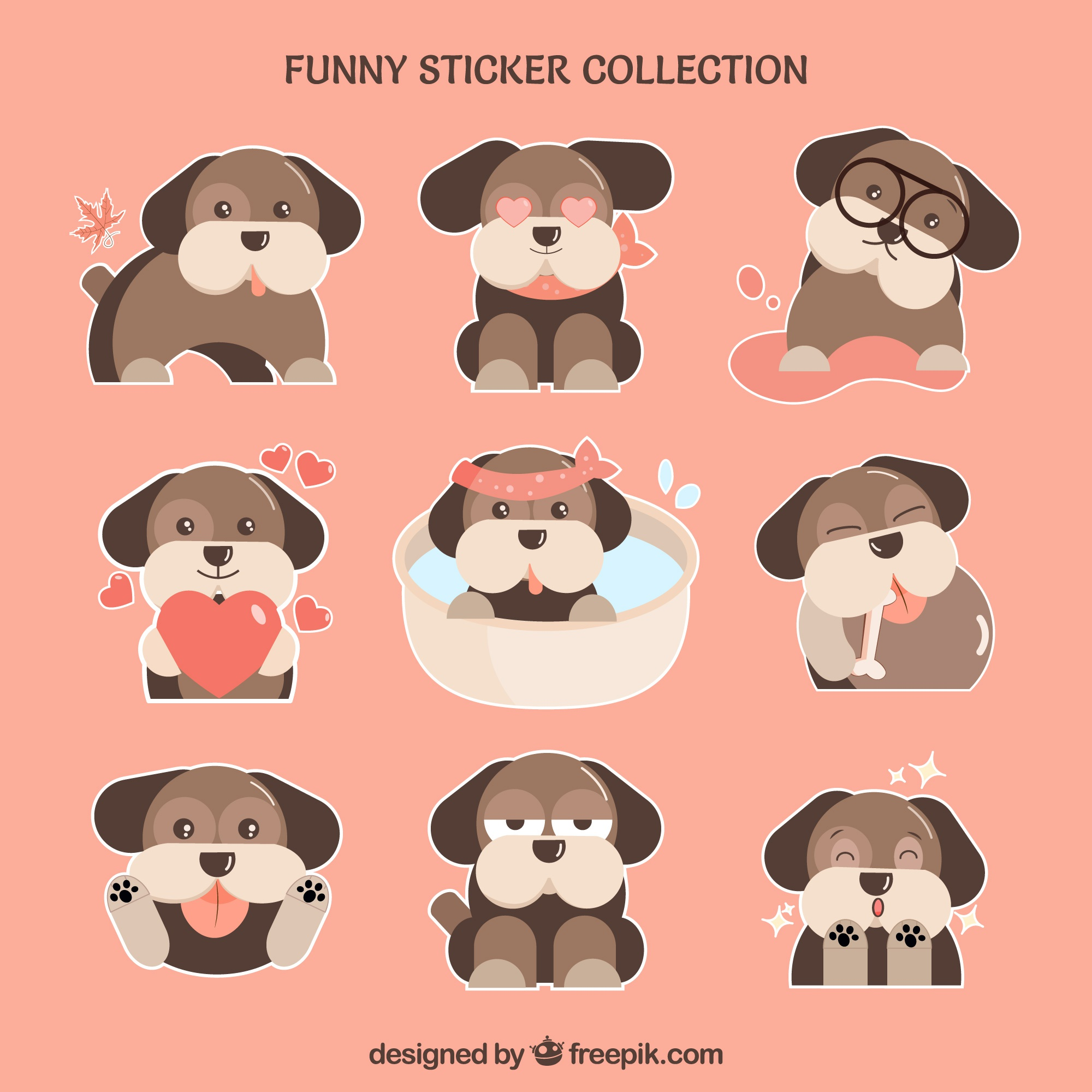 Leuke doggy stickers set