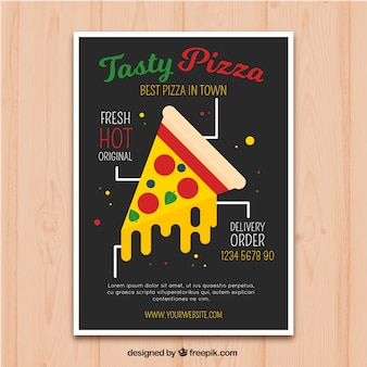 Leuke pizza flyer