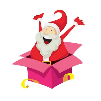 Leuke Santa Claus Karakter Verrassing