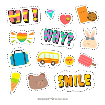 Leuke set van mooie stickers