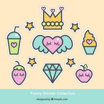 Leuke sticker collectie