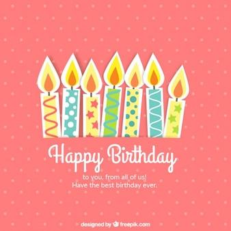Leuke verjaardagskaart met kaarsen