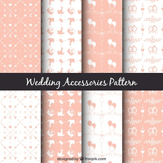 Leuke verschillende bruiloft patronen in roze kleur