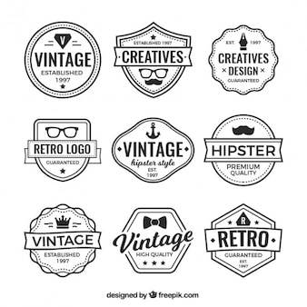 Logo's en vintage badges verzamelen