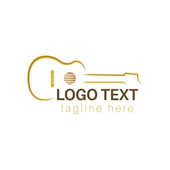 Logo met geschetste gitaar