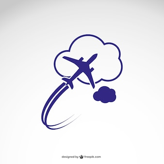 Logo sjabloon met vliegtuig