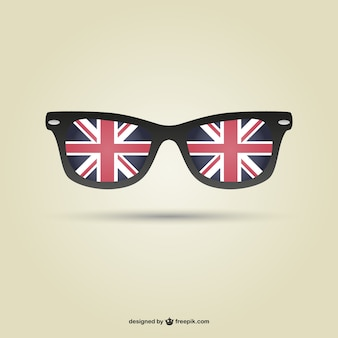 Londen vlag glazen vector