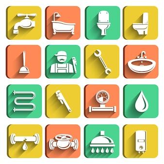 Loodgieters pictogrammen