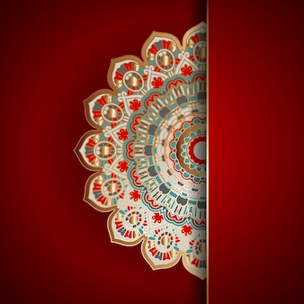 Luxe achtergrond met mandala design