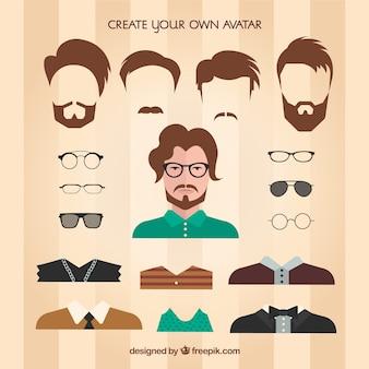 Maak je eigen mannelijke avatar
