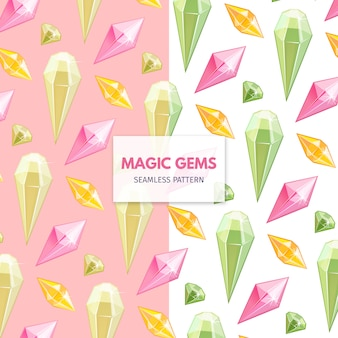 Magic Gems naadloze patroon