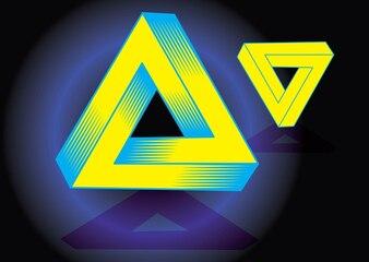magische driehoek vector