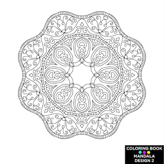 Mandala ontwerp van kleurboek