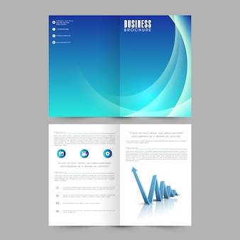 Marketing bedrijf abstracte catalogus portfolio