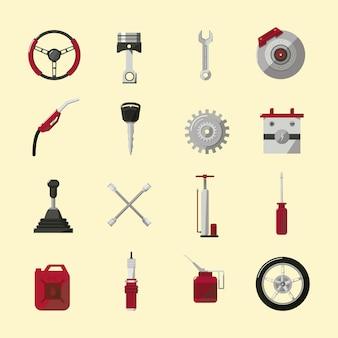 Mechanische iconen collectie