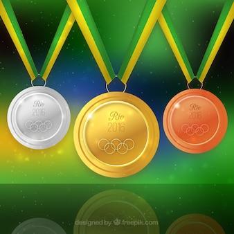 Medailles van de olympische spelen achtergrond