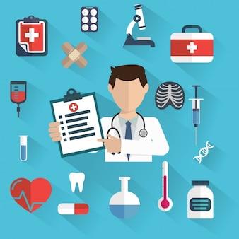 Medische achtergrond ontwerp