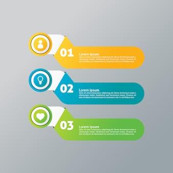 Meerdere opties infografisch ontwerp
