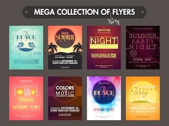 Mega collectie van creatieve muziek partij flyers, templates en uitnodigingskaarten ontwerp