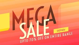 Megaverkoop moderne reclame banner banner design template