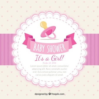 Meisjesachtig uitnodiging van de babydouche