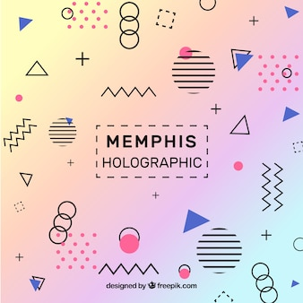 Memphis holografische achtergrond