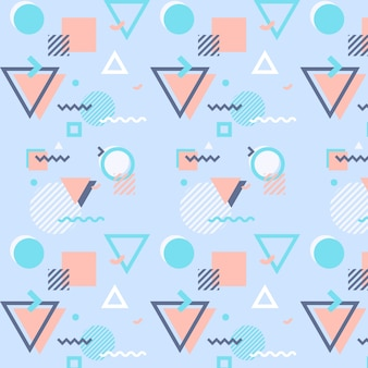 Memphis Patroon Met Geometrische Vormen