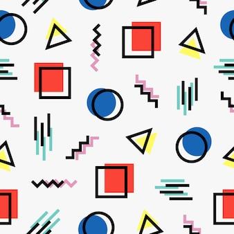 Memphis stijl patroon ontwerp