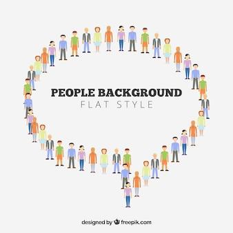 Mensen achtergrond ontwerp