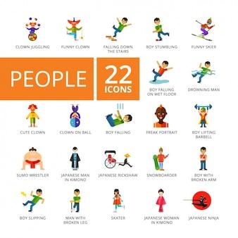 Mensen iconen collectie