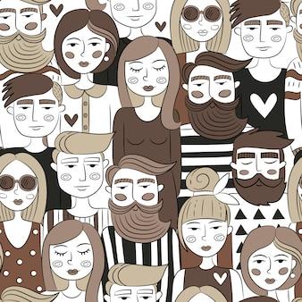 Mensen patroon ontwerp