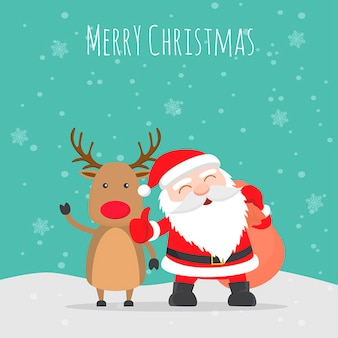 Merry christmas illustratie