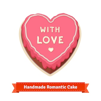 Met de hand gemaakt romatische cake