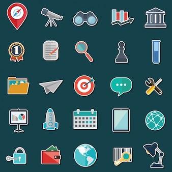 Met gekleurde pictogrammen collectie