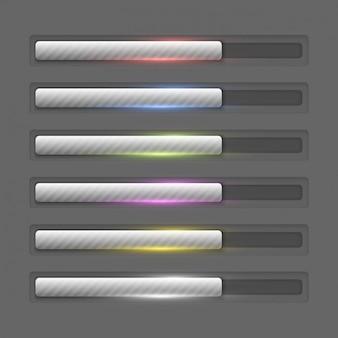 Metallic vooruitgang bars collectie