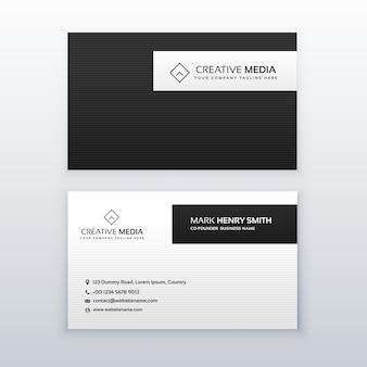 Minimaal zwart-wit visitekaartje ontwerp