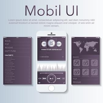 Mobiele app sjabloon